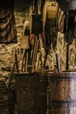 Old traditional kitchen inside a Greek monastery at Meteora, Greece. Europe stock images