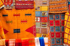 Old traditional Moroccan carpet stock photography