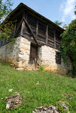 Old, traditional mountain barn, Serbia Stock Photo