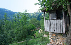 Old, traditional mountain granary, Serbia Royalty Free Stock Photos