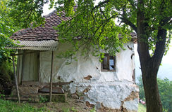 Old, traditional mountain house, Serbia Royalty Free Stock Image
