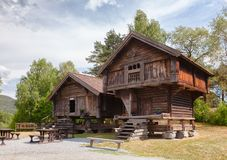 Old traditional Norwegian Stabbur store houses Telemark Norway S Royalty Free Stock Photos