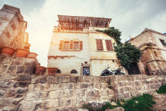 Old traditional Ottoman house in the background Stock Photos