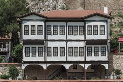 Old Traditional Ottoman Houses Royalty Free Stock Image