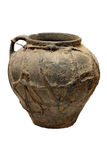 Old traditional pot. Old traditional vintage pot isolated jug Royalty Free Stock Images