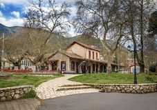 The Old Traditional Railroad Station at Kalavryta,Greece.  stock image
