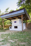 Old traditional romanian earthen stove Royalty Free Stock Image