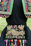 Old traditional Romanian folk costume for women Stock Images