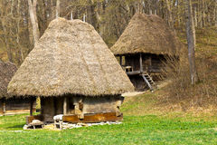 Ancient peasant houses Stock Photography