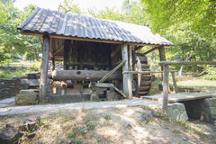 Old traditional romanian watermill Stock Photo