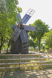 Old traditional romanian windmill Stock Photography