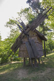 Old traditional romanian windmill Stock Photos
