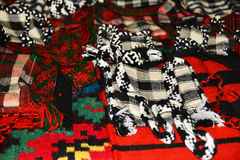 Old traditional romanian wool handmade things Royalty Free Stock Photo