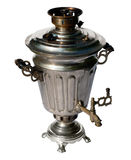 Old traditional russian samovar on white Royalty Free Stock Photography