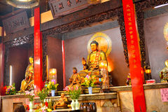 Old traditional Sanfeng Temple Stock Photography