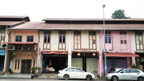 Old traditional shophouse Royalty Free Stock Images