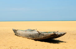 Old traditional Sri Lanka fishing boat Royalty Free Stock Photo