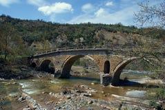 Old traditional stone made bridge at Epirus Royalty Free Stock Photography