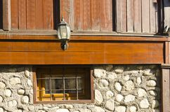 Old traditional street detail in Bansko, Bulgaria Royalty Free Stock Photography