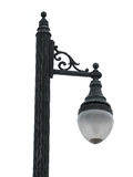 Old traditional street lamp isolated over white Stock Photo