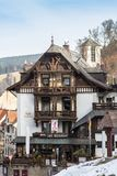 Traditional houses in Schwarzwald, Germany stock photography