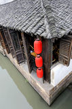 Old traditional tea house in Wuzhen Royalty Free Stock Photo