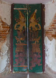 Old traditional thai temple door Royalty Free Stock Photo