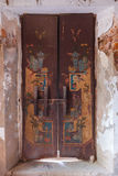 Old traditional thai temple door Royalty Free Stock Photography