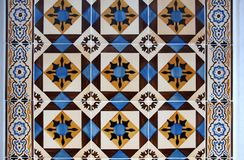 Old traditional tiles in Lisbon Stock Photography