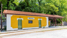 The old traditional train station in Milies village, Pelio, Greece Stock Images