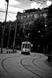 Old Traditional tram On The Street Of Milan Royalty Free Stock Image