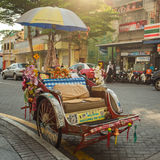 An old traditional trishaw cab Royalty Free Stock Photography