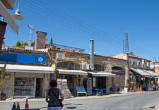 Old, traditional Turkish bazaar in the occupied part of Nicosia, Cyprus stock photo