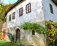 Old traditional Turkish village house with a vineyard Stock Images