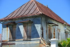 Old Traditional Typical House Reunion Island. Weathered Historical House Before Renovation Reunion Island Stock Images