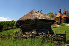 Old traditional ukrainian house Stock Images