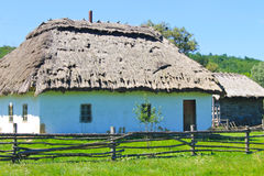 Old traditional ukrainian rural house Stock Image