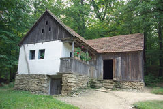 Old traditional village house stock photos