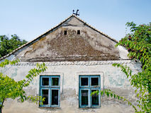 Old traditional village house in Banat, district Vojvodina in Serbia Royalty Free Stock Photo