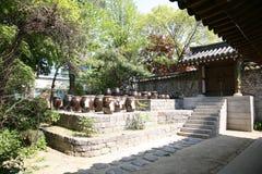 Old traditional village korean street Stock Photos