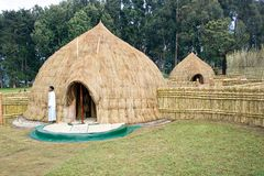 Old traditional village of the Rwanda Royalty Free Stock Image