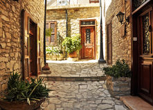 Old Traditional Village. Stone houses in an old traditional village in Cyprus Royalty Free Stock Image