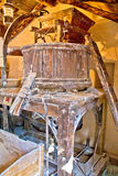 Old traditional watermill interior view Stock Photography
