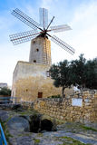 Old traditional windmill in Malta. Now an important tourist attr Stock Photo