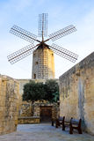 Old traditional windmill in Malta. Now an important tourist attr Stock Images