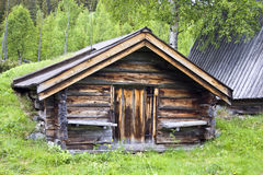 Old traditional wooden cabin Stock Photography