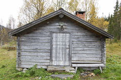 Old traditional wooden cabin Stock Image