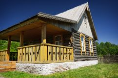 Old traditional wooden house Stock Photos