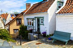 The old traditional wooden house, Norway Royalty Free Stock Images