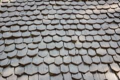 Old traditional wooden roof tile of old house Royalty Free Stock Image